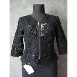 Lafei Nier rurki czarne haftowane  rozm. 34  pas 90-92 cm